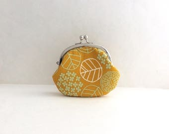 Leaf on Yellow Frame Coin Purse