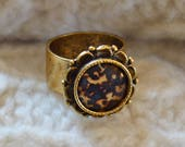 Tortoiseshell Ornate Ring, Antique Gold Ring, Ornate Ring, Tortoiseshell Ring, Tortoiseshell Jewelry, Ornate Jewelry, Tortoise Shell