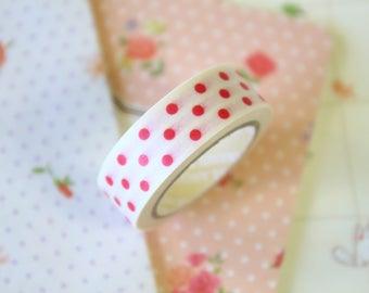 Red Polka Dots Washi Masking Tape