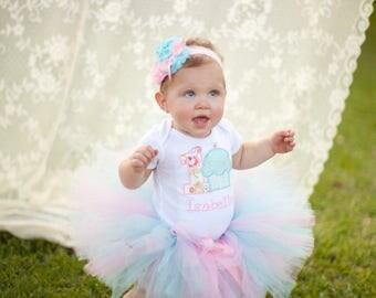 Girls First Birthday Outfit - First Birthday Shirt or Bodysuit - First Birthday Cupcake Shirt - Shabby Chic Birthday
