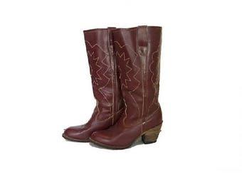 Vintage Women's Cowboy Boots, Jai Bor Boots, Western Boots, Size 8
