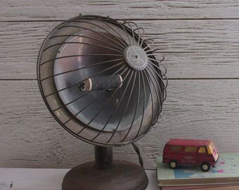 antique - vintage heater - Industrial décor - Majestic Electric Space Heater - bowl heater