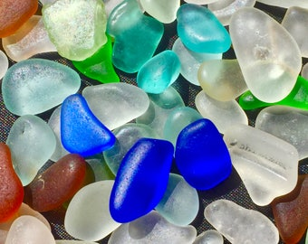 Sea Glass! Beach Glass! of HAWAII Beaches 100 COBALT SALE! Genuine Sea glass for Jewelry! Bulk Sea Glass! Sea Glass Bulk!