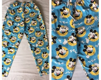 Vintage 90s Mickey Mouse Drawstring Pants