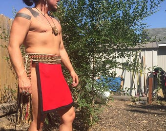 Native American Made Loincloth breechclout for pow wow regalia reenacting