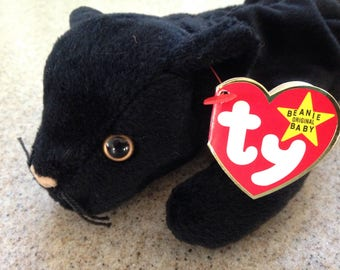 Vintage 1998 ty Velvet the Black Panther Beanie Baby