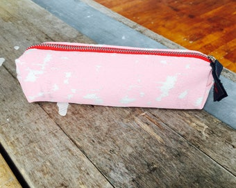 Pink Charcoal pencil case, Ready To Ship Now