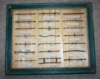 Antique Barbed Wire Collection Bobbed Wire Barb Wire Display Authentic 1800's