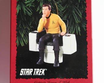 Capt Kirk Star Trek Hallmark Keepsake Ornament James Tiberius Kirk