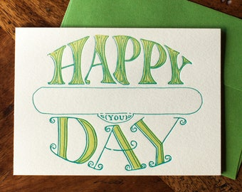 Happy Day to You! - Fill-in Card