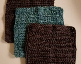 Dishcloths Washcloths Set of 3