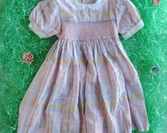 Girls Dress Sleeves - Peter Pan Collar - Spring Dress Toddler - Vintage Dress for Girls - 4T Dress - 3T Dress - Girls Summer Dress