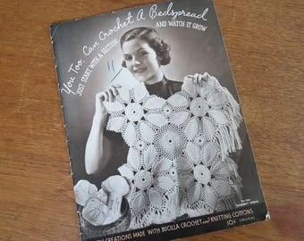 1930s Crochet Magazine - Bedspread & Pillow Pattern Book