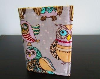 Owls Card Holder, Owl Lover Minimalist Wallet, Travel Wallet, Slim Wallet, Card Wallet, Business Card Holder, Card Case, Credit Card Holder