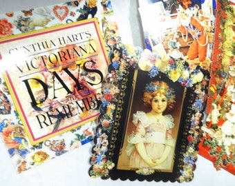 Victoriana Days To Remember Calendar Date Booklet Book PLUS (4) Each Postcards Cynthia Hart's Victorian Scrap Register