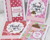 Custom Made Thank You Tag Cards 40