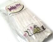 Vintage 1950s Ribbed White Bobbi-Sox Socks Ladies Size 10 In Package, Never Worn