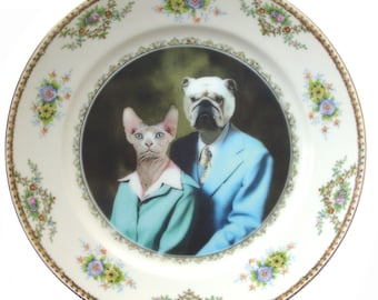 Earl and Betty Portrait Plate 10""