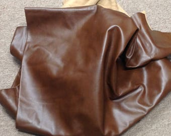6-910. Classic Brown Leather Cowhide