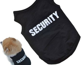 Halloween Pet Clothes Dog Cat Personalized T-Shirt  Security Costume