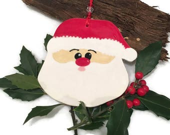 Santa Claus Ornament - Hand Crafted Christmas