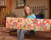"""Field of Poppies 12 x 48"""""""
