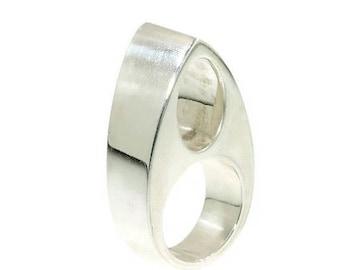 ON SALE Modern Silver Ring by Chris Steenbergen