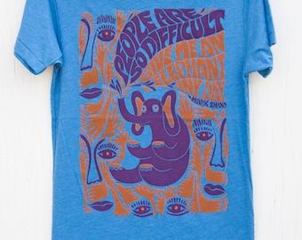 Funky Men's Screen Printed Elephant T-shirt - Elephants Any Day