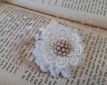 Bridal Fascinator,Wedding fascinator, bridal  Accessories,bridal head piece