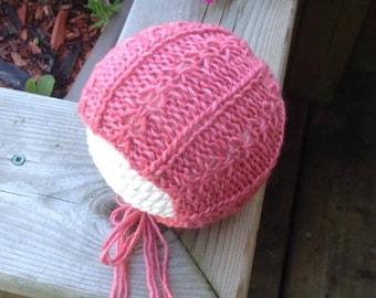 Knitting Pattern, Knit PDF Pattern,  Newborn Hat Pattern, PHOTO shoot prop,  Knit, Tutorial, PDF, Newborn hat, Rosie Bonnet