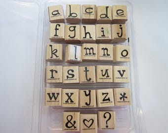 rubber stamps - SPUNKY ALPHABET lower case - Stampin Up 2006 - used rubber stamp