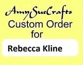 Custom Order -- Rebecca Kline -- Initial Letter Keychain: Brass Alphabet Letter Charm, Mom Gift, First Name Keychain, Last Name Keychain