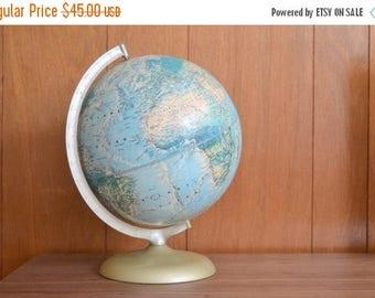 CIJ SALE 25% OFF vintage rand mcnally world portrait globe / geographical home decor / educational
