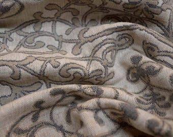 Grey Geometric Keystone Fabric