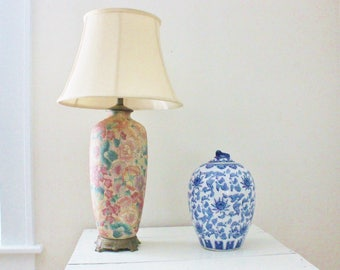 Pastel Colored Cloisonne Lamp