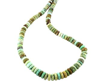CHINESE TURQUOISE BEADS Rondelles Green