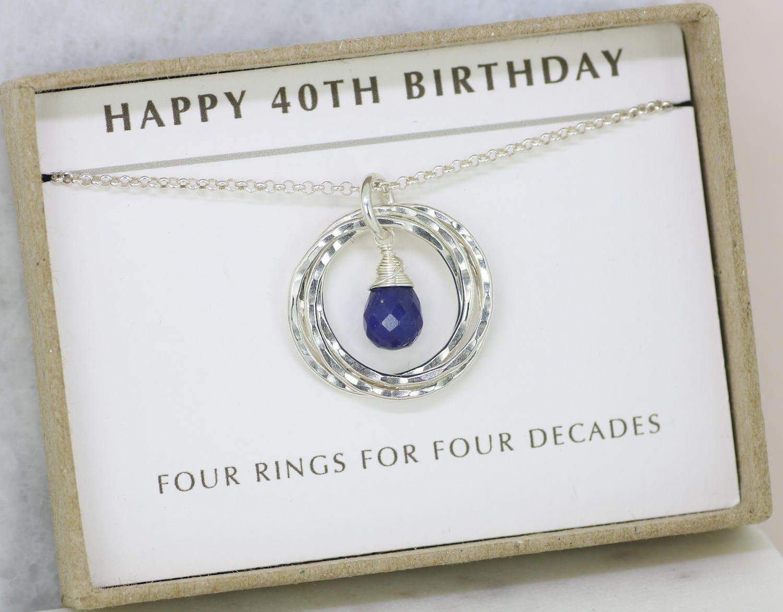 40th Birthday Gift Sapphire Necklace September Birthstone