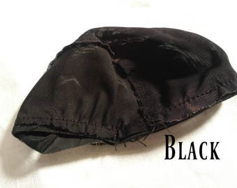 Doll Wig Cap - Black