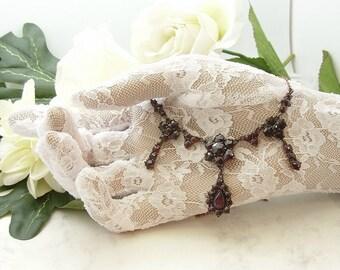 Vintage starcut garnet necklace in Victorian style || ГРАНАТ#PK
