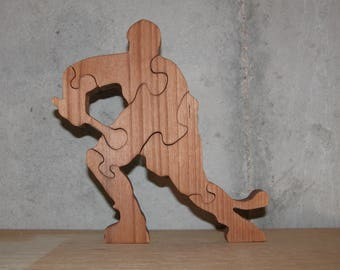 Hockey Player - Wooden Puzzle - Sports Puzzle