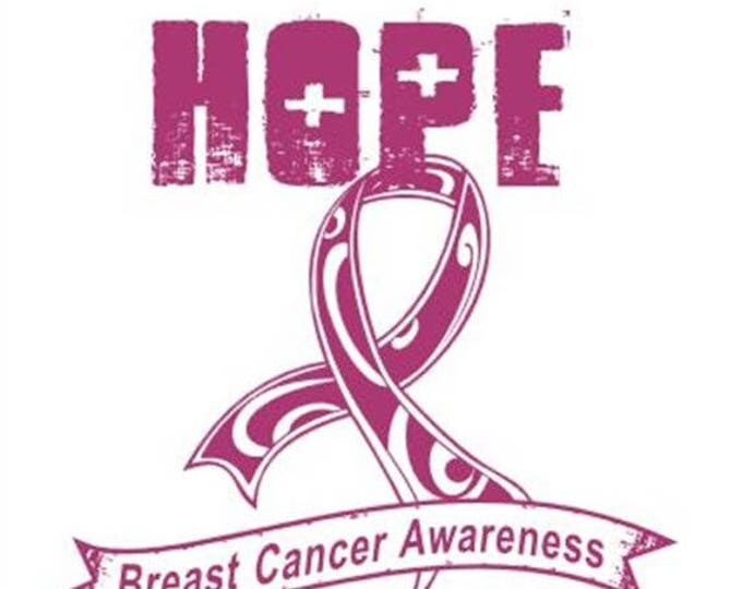 Breast Cancer Awareness Ribbon T-Shirt - Hope - Limited Quantity