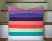 girly stripes - pillow cover
