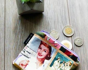 Retro Night Nurse Coin Purse - Retro Nurse Cardholder - Small Zipper Bag