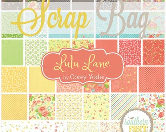 Lulu Lane by Moda Scrap Bag by Corey Yoder Quilt Fabric Strips Remnants