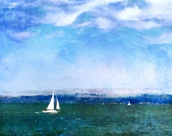 Come Sail Away, Boat Art, Ocean Art, Fine art photography, digital artwork, large artwork, Abstract art, Beach Artwork, sailing, sailboat