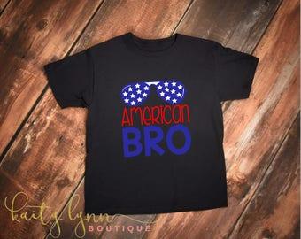 American Bro, 4th of July shirt, 4th of July boy shirt, boy tshirt, tshirt,