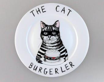 The Cat Burgerler? side plate