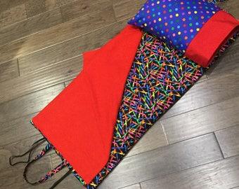 Kindermat Nap Mat Cover - Crayons and Dots