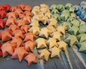 60 Origami Wishing Stars w/ Custom messages