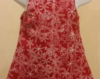 Jumper Dress Red and White Snowflakes Infant Medium Christmas Holiday dress